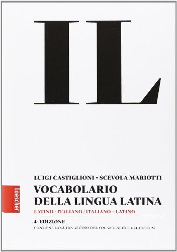 9788820166601: Il vocabolario della lingua latina. Latino-italiano, italiano-latino-Guida all'uso