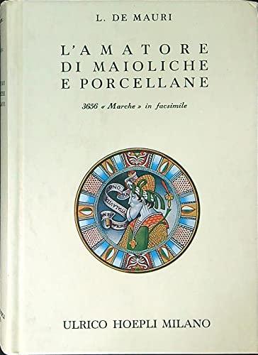 L'amatore di maioliche e porcellane. Notizie storiche: De Mauri,L.(ernesto Sarasino).