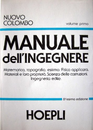 9788820314309: Nuovo Colombo. Manuale dell'ingegnere