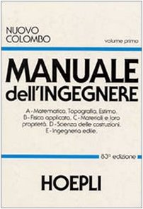 9788820323196: Nuovo Colombo. Manuale dell'ingegnere