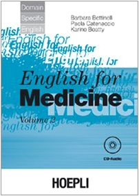 9788820332686: English for medicine. Con CD Audio: 2