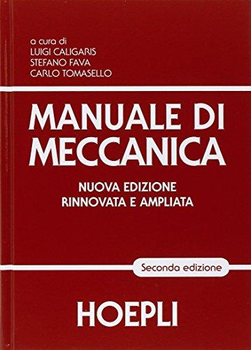 9788820366452: Manuale di meccanica