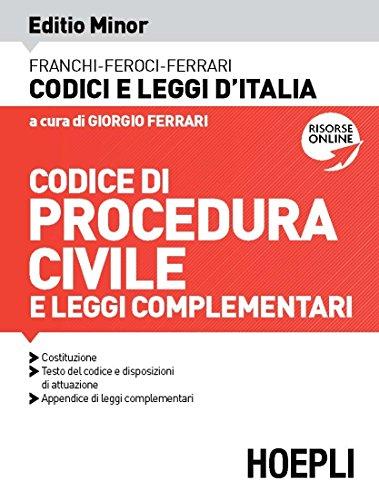9788820395476: Codice procedura civile e leggi complementari 2020. Editio minor