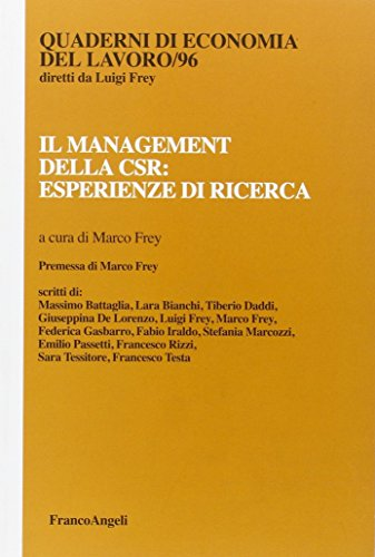 9788820401764: Il management della CSR: esperienze di ricerca
