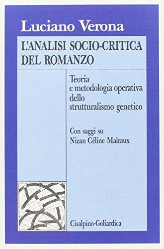 L'analisi socio-critica del romanzo (Italian Edition): Luciano Verona