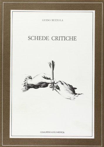 Schede critiche.: Bezzola,Guido