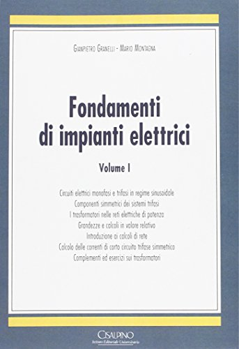 9788820510572: Fondamenti di impianti elettrici: 1