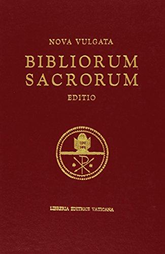 9788820915230: Nova Vulgata: Bibliorum Sacrorum Editio (Vulgate Latin Bible) Sacros, Oecum, Concilii Vaticani il Ratione Habita Iussu Pauli PP. vi Recognita Auctoritate Ioannis Pauli PP. il Promulgata