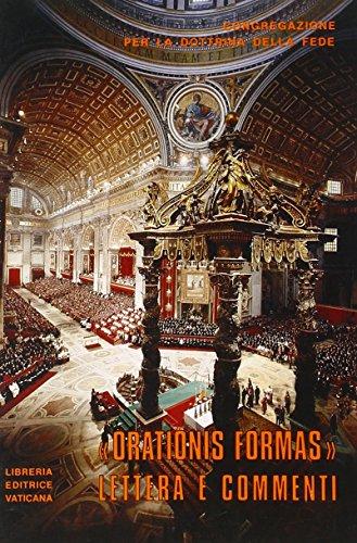 9788820917012: Lettera «Orationis formas» ai vescovi della Chiesa cattolica su alcuni aspetti della meditazione cristiana. Testo latino e italiano