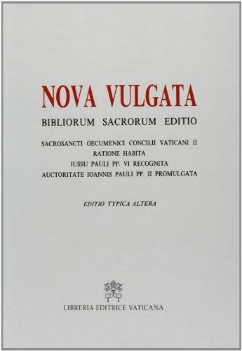 9788820921637: Bibliorum sanctorum. Nova vulgata editio. Editio typica altera (Bibbia)