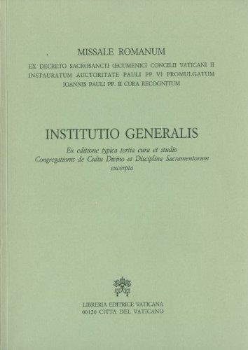 Missale romanum institutio generalis