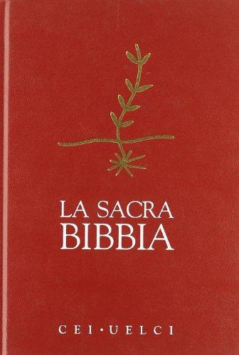 9788820981174: La sacra Bibbia. Versione ufficiale della CEI-UELCI