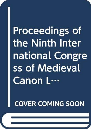 Proceedings of the 9th International congress of