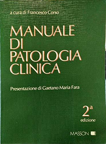 9788821415951: Manuale di patologia clinica