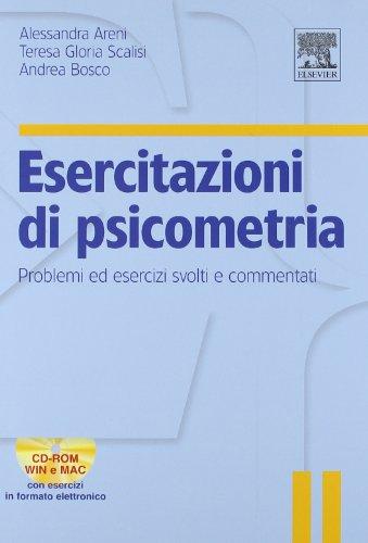 9788821426919: Esercitazioni di psicometria. Problemi ed esercizi svolti e commentati. Con CD-ROM