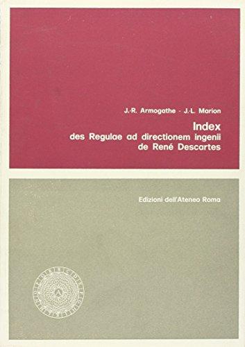 9788822209528: Index des Regulae ad directionem ingenii de René Descartes