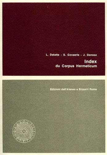 9788822209702: Index du Corpus Hermeticum