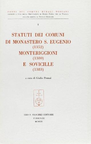 Statuti dei Comuni di Monastero S.Eugenio (1352)