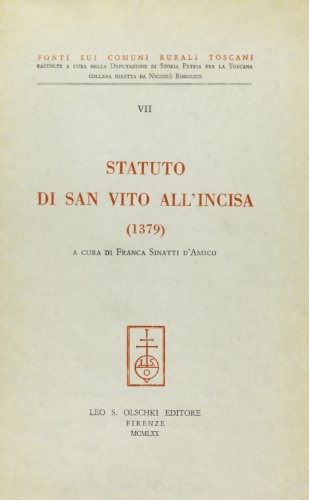 Statuto di San Vito all'Incisa 1379.: --