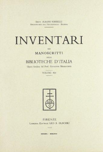 INVENTARI DEI MANOSCRITTI DELLE BIBLIOTECHE D'ITALIA. VOL. 41. Foligno.: AA.VV