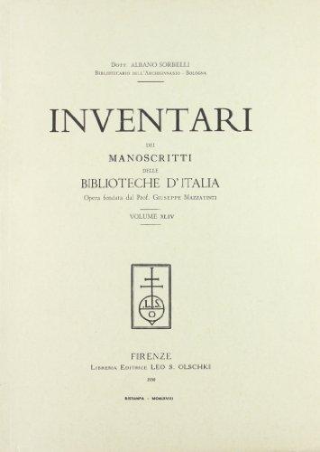 INVENTARI DEI MANOSCRITTI DELLE BIBLIOTECHE D'ITALIA. VOL. 44. Castiglion Fiorentino, Sal&...