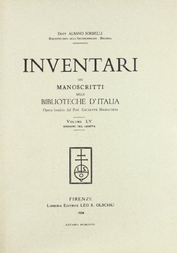 INVENTARI DEI MANOSCRITTI DELLE BIBLIOTECHE D'ITALIA. VOL. 55. Bassano del Grappa.: AA.VV