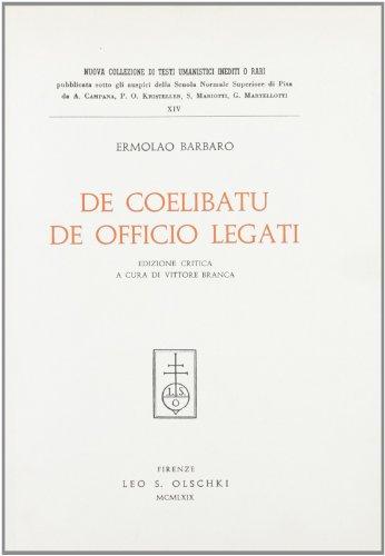 9788822214706: Tractatus «De coelibatu» et «De officio legati»