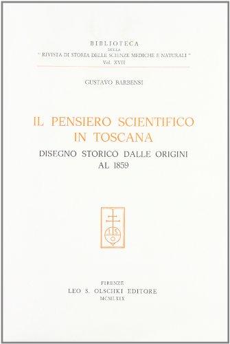Il pensiero scientifico in Toscana. Disegno storico dalle origini al 1859: Gustavo Barbensi