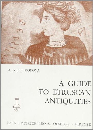 Guide des antiquités étrusques. Avec 37 illustrations et une c: Neppi Modona, Aldo.