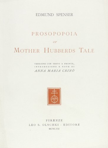 Prosopopoia or Mother Hubberds Tale.: Spenser,Edmund.