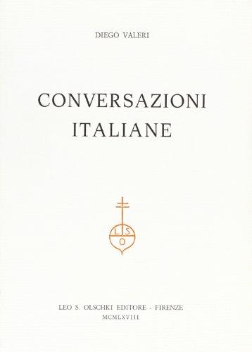 CONVERSAZIONI ITALIANE.: VALERI Diego (Piove di Sacco, 1887-1976).