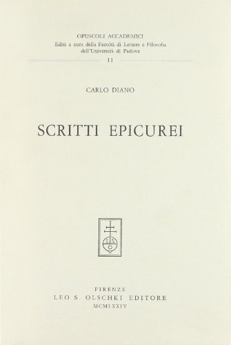 SCRITTI EPICUREI.: DIANO Carlo.