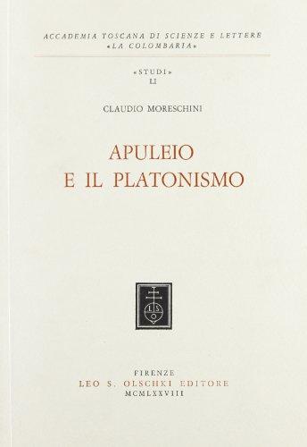 APULEIO E IL PLATONISMO.: MORESCHINI Claudio.