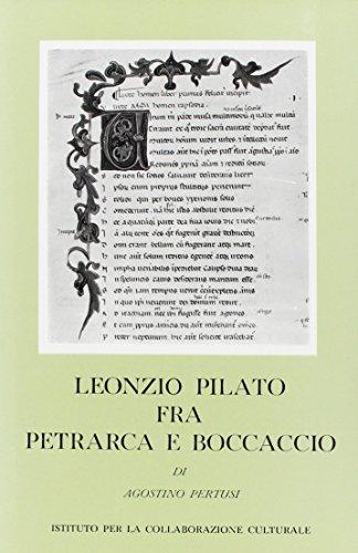 9788822228116: Leonzio Pilato tra Petrarca e Boccaccio (Civiltà veneziana. Studi)