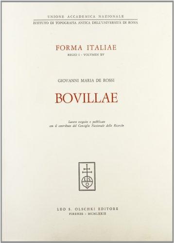 BOVILLAE.: De ROSSI Giovanni Maria.