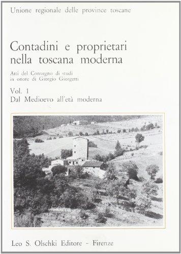 9788822228727: Contadini e proprietari nella Toscana moderna: 1