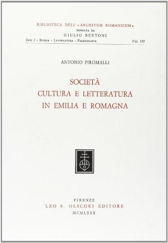 Società, cultura e letteratura in Emilia-Romagna.: Piromalli,Antonio.