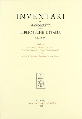 INVENTARI DEI MANOSCRITTI DELLE BIBLIOTECHE D'ITALIA. VOL. 97. Forlì.