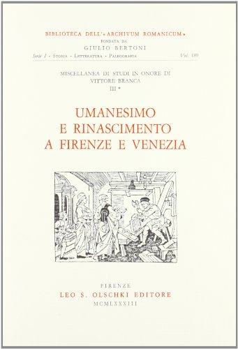 9788822231871: Miscellanea Di Studi in Onore Di Vittore Branca. Vol. III: