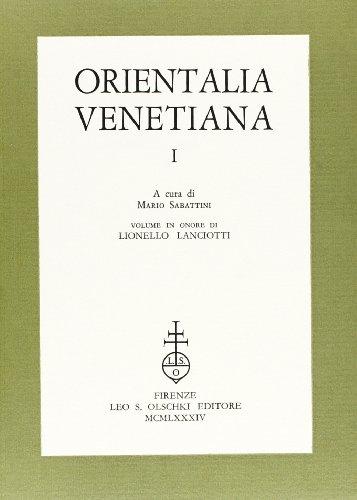 Orientalia Venetiana: Sabattini, Mario