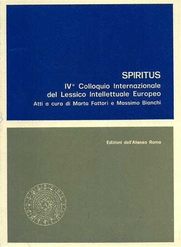 9788822232977: Spiritus