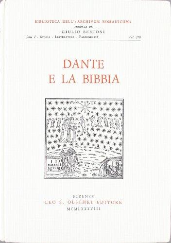 Dante e la Bibbia: Atti del Convegno