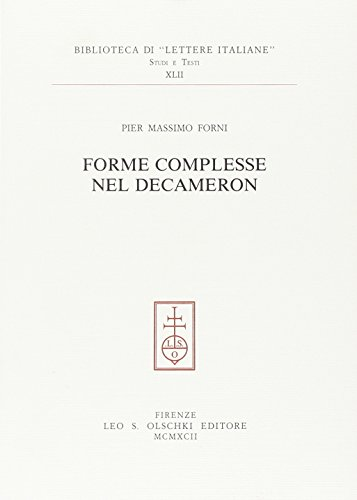 Forme complesse nel «Decameron».: Forni,Pier Massimo.
