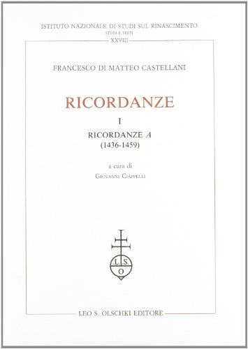 RICORDANZE. 1992-1995.: CASTELLANI Francesco di Matteo.