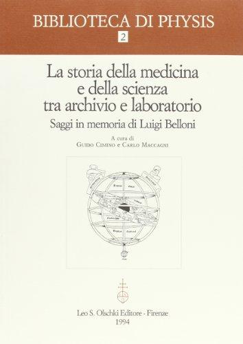 Storia della medicina e della scienza tra: Cimino, Guido. Carlo