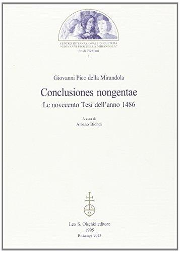 Conclusiones nongentae: Le novecento tesi dell'anno 1486 (Studi pichiani) (8822243056) by Giovanni. Pico della Mirandola