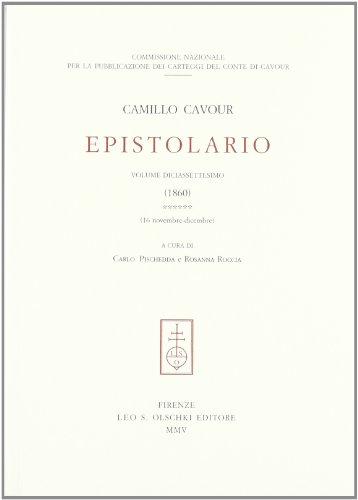 Epistolario: Camillo Cavour