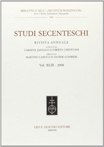 STUDI SECENTESCHI VOL. XLIX (2008).