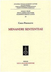 MENANDRI SENTENTIAE.: PERNIGOTTI Carlo.