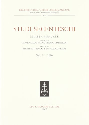 STUDI SECENTESCHI VOL. LI (2010).